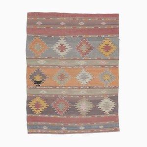 3x5 Vintage Turkish Oushak Handmade Wool Kilim Area Rug