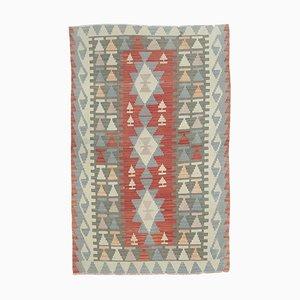 Handgeknüpfter türkischer Vintage Oushak Woll Kilim Teppich aus Wolle, 3x5 Stück