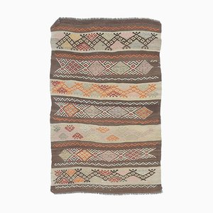 3x4 Vintage Turkish Oushak Handmade Wool Kilim Area Rug