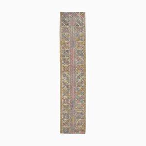 2x9 Vintage Turkish Oushak Handmade Wool Patchwork Runner Rug
