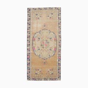 3x6 Vintage Turkish Oushak Handmade Wool Medallion Rug