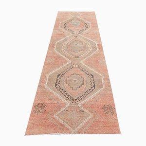 3x10 Antiker Türkischer Handmade Läufer aus Roter Wolle