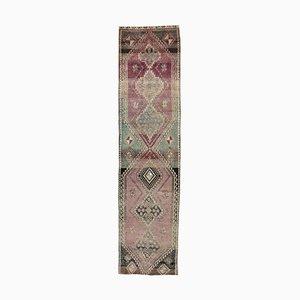 3x11 Antique Turkish Oushak Handmade Wool Rug in Purple