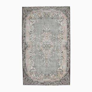 6x10 Vintage Turkish Rugs Oushak Oriental Carpet Brown Pink