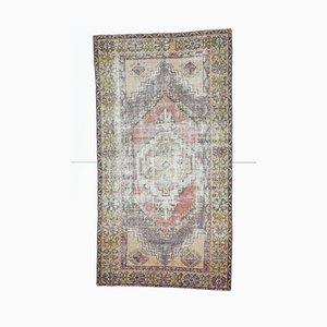 4x7 Antique Middle East Rug Oushak Handmade Wool Oriental Carpet