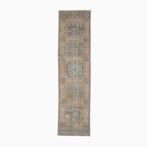 3x12 Vintage Turkish Oushak Handmade Wool Runner Rug Faded