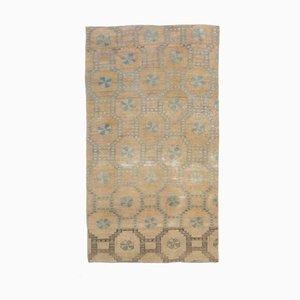 Tappeto 3x5 vintage fatto a mano in lana di Oushak, Marocco Neutro