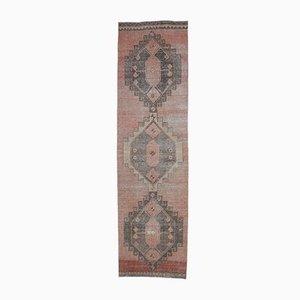 3x12 Vintage Turkish Oushak Handmade Wool Runner Rug Red
