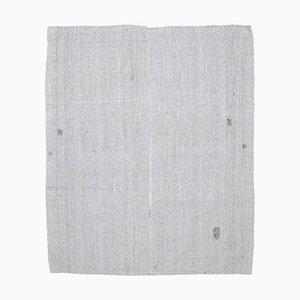 Handgewebter türkischer Vintage 7x9 Ouschak Kelim Bodenteppich aus Wolle