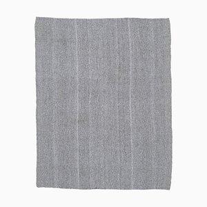 7x8 Vintage Turkish Oushak Handmade Gray Wool Kilim Area Rug
