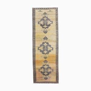 3x9 Antique Turkish Oushak Handmade Wool Hallway Rug