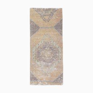 Türkischer Vintage Oushak Vintage 2x5 Wollteppich aus Bronze