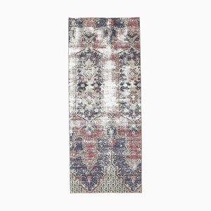 2x5 Antique Turkish Oushak Handmade Wool Runner Rug