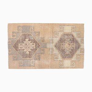 3x4 Vintage Turkish Oushak Handmade Wool Rug