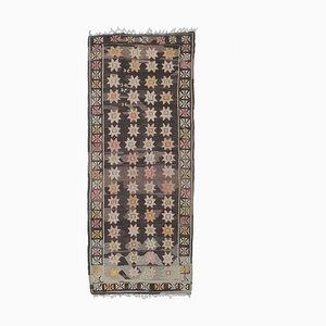 4x10 Vintage Turkish Kilim Oushak Handmade Wool Flatweave Rug