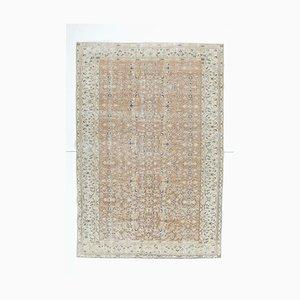 Tappeto Oushak vintage in lana fatto a mano, Turchia, 6x9
