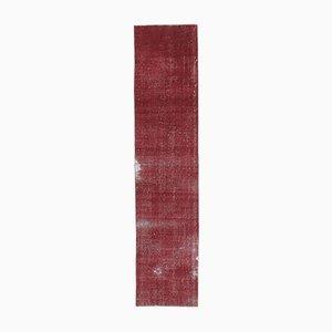 2x7 Vintage Turkish Oushak Handmade Wool Scarlet Runner