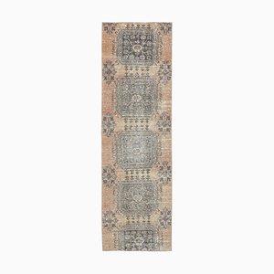 3x9 Antique Turkish Oushak Handmade Wool Rug in Orange