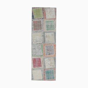 3x8 türkischer Vintage Oushak Teppich aus handgewebter Wolle