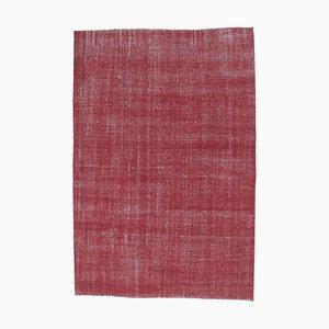 7x10 Vintage Turkish Oushak Handmade Red Wool Rug