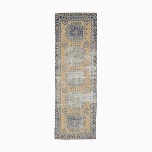 Türkischer Vintage Oushak Vintage 1111 Wollteppich in Gelb