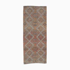 Türkischer Niedriger Türschwebeballett Teppich aus Teak, 1950er
