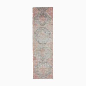 3x11 Antique Turkish Oushak Wool Low Pile Hallway Rug