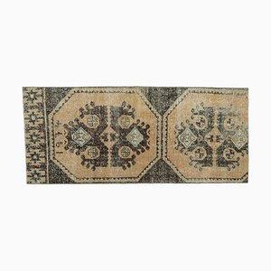 Tappeto Oushak vintage fatto a mano con lana, 2x5 vintage, Turchia