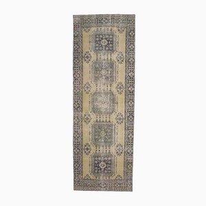 4x12 Antique Turkish Oushak Handmade Wool Runner Rug in Pastel