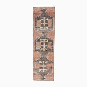 Türkischer Vintage Oushak Vintage Wax Teppich in Rot. 3er Set