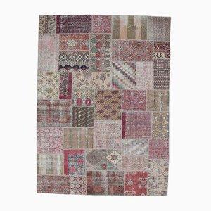 8x11 türkischer Vintage Oushak Teppich aus handgewebter Wolle