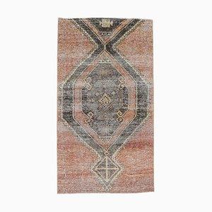 3x5 Handgemachter türkischer Vintage Oushak Teppich in roter Wolle