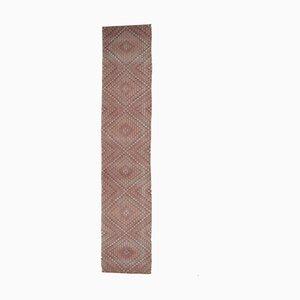 4x22 Extra Long Vintage Turkish Oushak Kilim Runner Rug