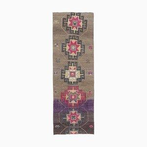 Tappeto da ingresso Oushak vintage in lana 3x8, Turchia