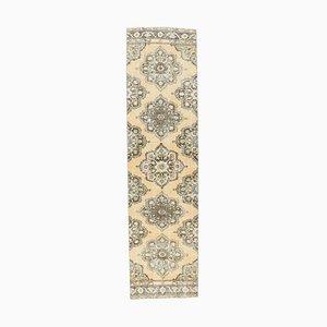 3x11 Türkischer Vintage Oushak Läufer Teppich aus Wolle