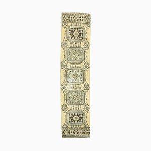 3x11 Vintage Turkish Oushak Handmade Wool Runner Rug