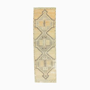 3x10 Türkischer Vintage Oushak Handgewebter Teppich aus Wolle