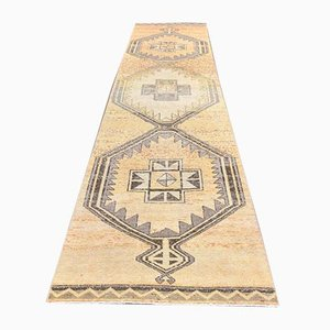 3x13 Vintage Turkish Oushak Handmade Wool Runner Carpet