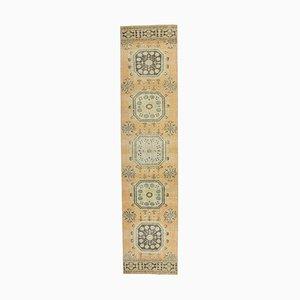 Tappeto da ingresso Oushak vintage in lana intrecciata a mano, Turchia