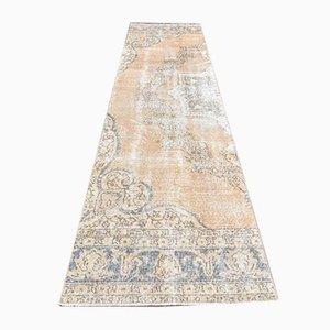Tappeto Oushak vintage in lana fatto a mano 3x11