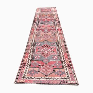 3x12 Vintage Turkish Oushak Pink Hand-Knotted Wool Runner