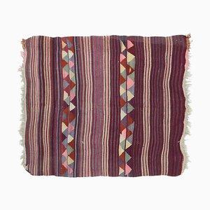 5x6 Vintage Turkish Oushak Handmade Wool Kilim Area Rug