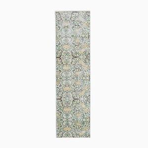 Tappeto Oushak vintage in lana fatta a mano 2x8 beige, Turchia