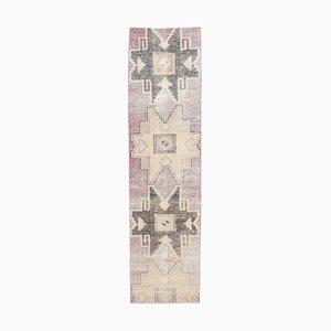 Tappeto vintage Oushak fatto a mano con lana, 2x7