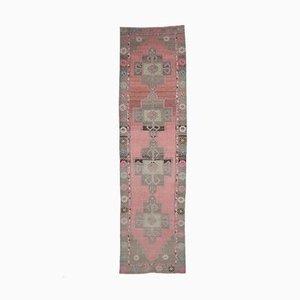 3x12 Antiker Türkisch Oushak Läufer Teppich aus Wolle in Pastell