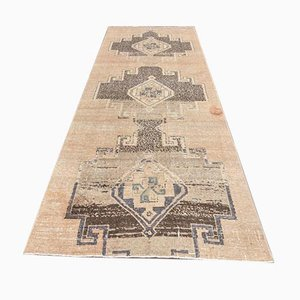 4x10 Vintage Turkish Oushak Handmade Wool Runner Carpet