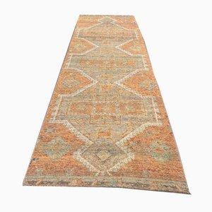 3x11 Vintage Turkish Oushak Handmade Wool Runner Carpet