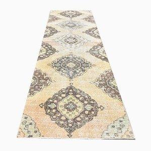 3x10 Antique Turkish Oushak Runner Handmade Wool Carpet