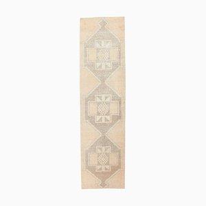 3x12 Türkischer Vintage Oushak Handgewebter Teppich aus Wolle