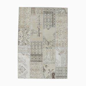 Tappeto Oushak vintage in lana con patchwork fatto a mano, Turchia